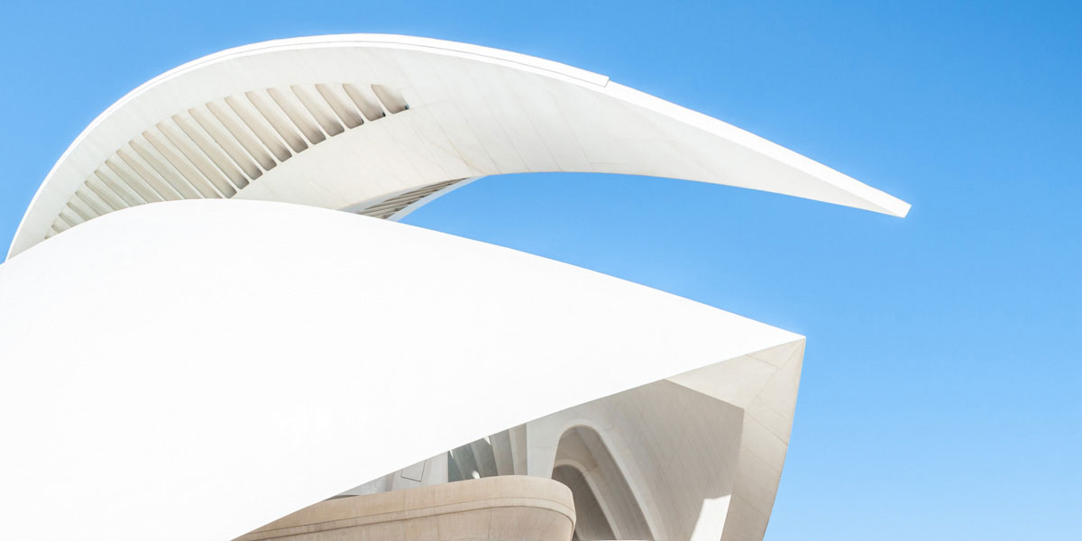 Palau de les Arts Reina Sofía, Valencia, Spain, Abstract architectural photography