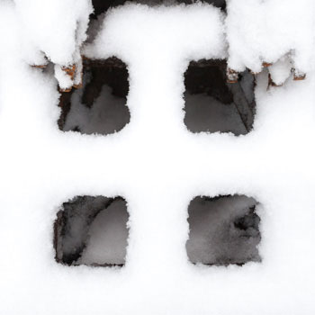 Abstract fine art photography, snow pattern